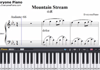 Mountain Stream-Bandari-Free Piano Sheet Music