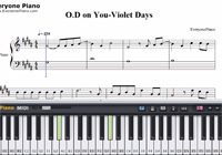 O.D on You-Violet Days-Free Piano Sheet Music
