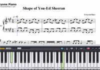 Shape of You-Ed Sheeran-Free Piano Sheet Music