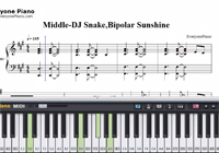 Middle-DJ Snake,Bipolar Sunshine-Free Piano Sheet Music