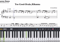 Too Good-Drake,Rihanna-Free Piano Sheet Music