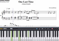 One Last Time-Ariana Grande-Free Piano Sheet Music