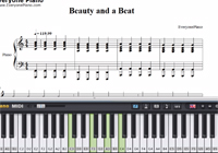Beauty and a Beat - Justin Bieber ft. Nicki Minaj-Free Piano Sheet Music