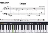 MEMORY-Departures BGM-Free Piano Sheet Music
