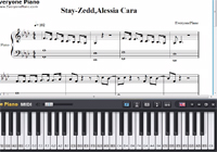 Stay-Zedd,Alessia Cara-Free Piano Sheet Music