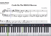 Castle On The Hill-Ed Sheeran楽譜ピアノ学習