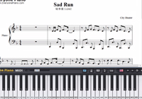 Sad Run-City Hunter OST-Free Piano Sheet Music