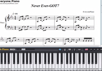 Never Ever-GOT7-Free Piano Sheet Music
