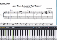 How Does A Moment Last Forever-Beauty and the Beast OST-Free Piano Sheet Music