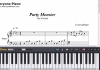 Party Monster-The Weeknd-Free Piano Sheet Music