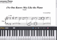 No One Knows Me Like the Piano-Sampha-Free Piano Sheet Music
