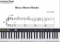 Mercy-Shawn Mendes-Free Piano Sheet Music