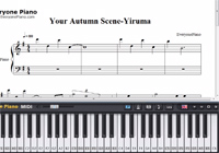 Your Autumn Scene-Yiruma-Free Piano Sheet Music