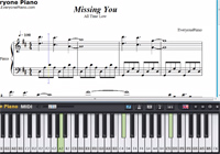 Missing You-All Time Low-Free Piano Sheet Music