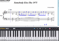 Somebody Else-The 1975-Free Piano Sheet Music