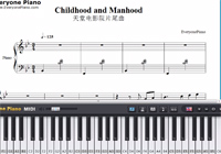 Childhood and Manhood-Cinema Paradiso OST-Free Piano Sheet Music
