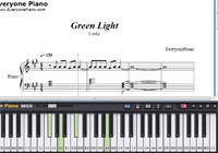 Green Light-Lorde-Free Piano Sheet Music