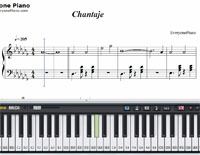 Chantaje-Shakira-Free Piano Sheet Music