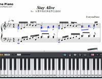 Stay Alive-Re:Life in a different world from zero ED2-Free Piano Sheet Music