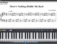 There's Nothing Holdin Me Back-Free Piano Sheet Music