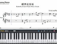 Butterfly Dream Flower Misty Drizzle-Free Piano Sheet Music