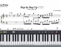 Step by Step Up-NEW GAME OP-Free Piano Sheet Music