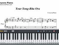 Your Song-Rita Ora-Free Piano Sheet Music