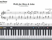 Waltz for John and Mary-Free Piano Sheet Music