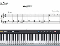 Happier-Ed Sheeran-Free Piano Sheet Music