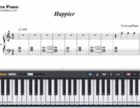 Happier-Ed Sheeran-Free Piano Sheet Music