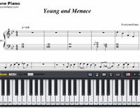 Young and Menace-Fall Out Boy-Free Piano Sheet Music