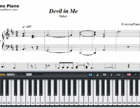 Devil In Me-Halsey-Free Piano Sheet Music