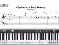 Pilgrims on a Long Journey-Free Piano Sheet Music
