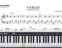 Senbonzakura Variation-Free Piano Sheet Music
