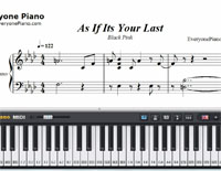 As If It's Your Last-Black Pink-Free Piano Sheet Music