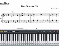 The Game is On-Free Piano Sheet Music