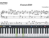 Forever-EXO-Free Piano Sheet Music