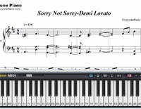 Sorry Not Sorry-Demi Lovato楽譜ピアノ学習