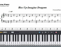 Rise Up-Imagine Dragons-Free Piano Sheet Music