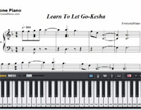 Learn To Let Go-Kesha-Free Piano Sheet Music