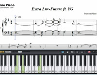 Extra Luv-Future and YG-Free Piano Sheet Music