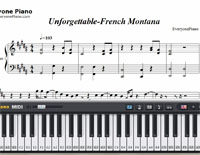 Unforgettable-French Montana-Free Piano Sheet Music