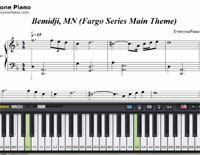 Bemidji MN Fargo Series Main Theme-Fargo 2 OST-Free Piano Sheet Music