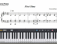First Time-Kygo and Ellie Goulding-Free Piano Sheet Music