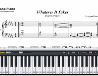 Whatever It Takes-Imagine Dragons-Free Piano Sheet Music