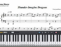Thunder-Imagine Dragons-Free Piano Sheet Music