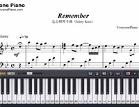 Remember-The Rain-Free Piano Sheet Music