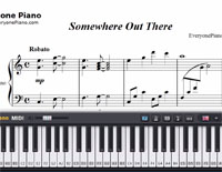 Somewhere Out There-The Main Theme of An American Tail-Free Piano Sheet Music