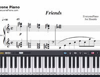 Friends-Joe Hisaishi-Free Piano Sheet Music