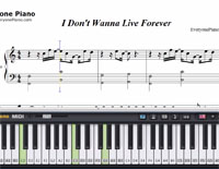 I Don't Wanna Live Forever-Zayn and Taylor Swift-Free Piano Sheet Music